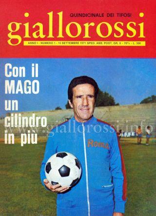 Giallorossi n. 1 - 15 settembre 1971 [Copertina]