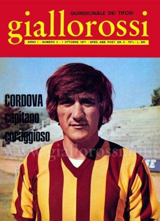 Giallorossi n. 2 - 1° ottobre 1971 [Copertina]