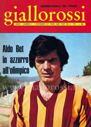 Giallorossi n. 4 - 1° novembre 1971 [Copertina]