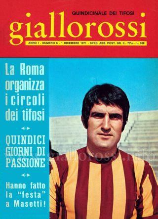 Giallorossi n. 6 - 1° dicembre 1971 [Copertina]