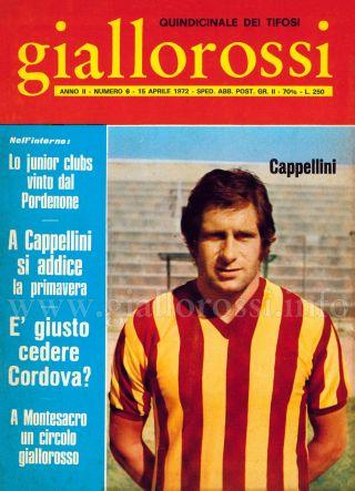 Giallorossi n. 6 – 15 aprile 1971 [Copertina]