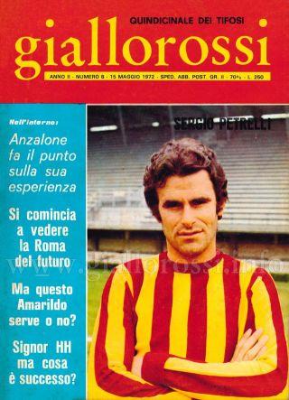 Giallorossi n. 8 – 15 maggio 1971 [Copertina]