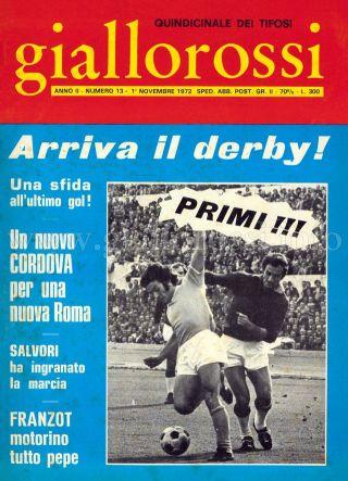 Giallorossi n. 13 – 1° novembre 1971 [Copertina]