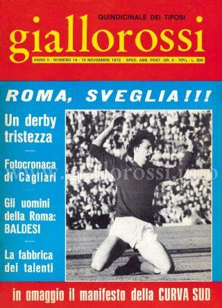 Giallorossi n. 14 – 15 novembre 1971 [Copertina]
