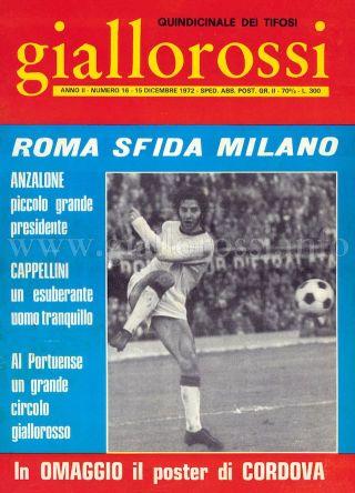 Giallorossi n. 16 – 15 dicembre 1971 [Copertina]