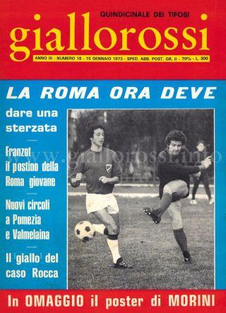 Giallorossi n. 18 – 15 gennaio 1973 [Copertina]