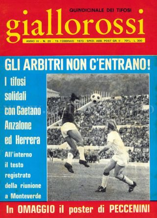 Giallorossi n. 20 – 15 febbraio 1973 [Copertina]