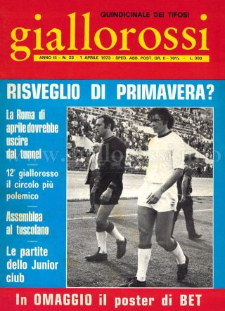 Giallorossi n. 23 – 1° aprile 1973 [Copertina]