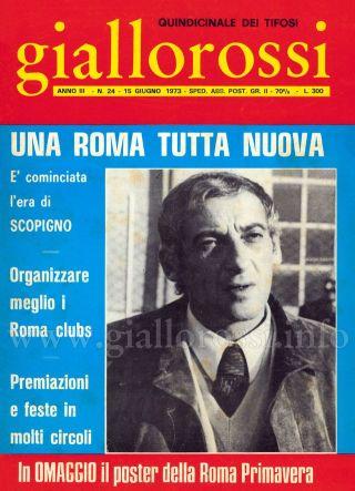Giallorossi n. 24 – 15 giugno 1973 [Copertina]