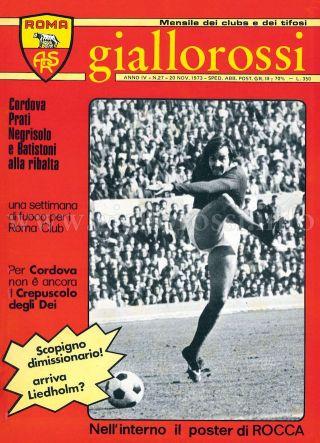 Giallorossi n. 27 – 20 novembre 1973 [Copertina]