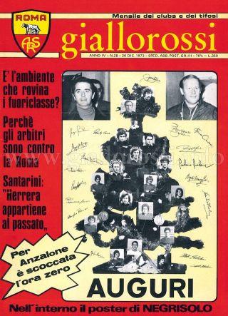 Giallorossi n. 28 – 20 dicembre 1973 [Copertina]
