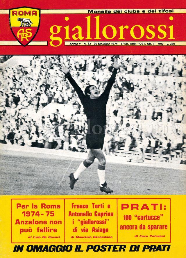 Clicca per leggere il n. 33 - 20 maggio 1974