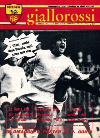 Giallorossi n. 32 - 20 aprile 1974 [Copertina]