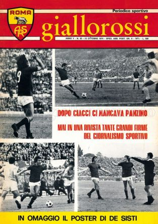 Giallorossi n. 35 - 15 ottobre 1974 [Copertina]