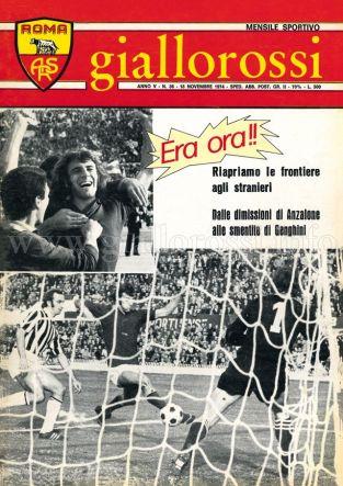 Giallorossi n. 36 - 15 novembre 1974 [Copertina]