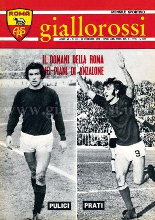 Giallorossi n. 39 - 15 febbraio 1975 [Copertina]