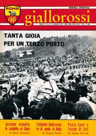 Giallorossi n. 42 - 15 maggio 1975 [Copertina]