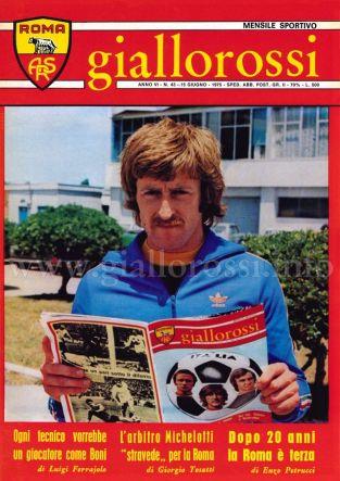 Giallorossi n. 43 - 15 giugno 1975 [Copertina]
