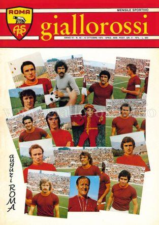 Giallorossi n. 45 - 15 ottobre 1975 [Copertina]