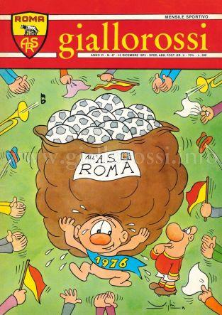 Giallorossi n. 47 - 15 dicembre 1975 [Copertina]