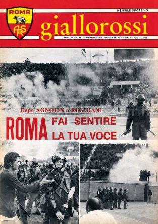 Giallorossi n. 48 - 15 gennaio 1976 [Copertina]