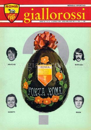 Giallorossi n. 51 - 15 aprile 1976 [Copertina]
