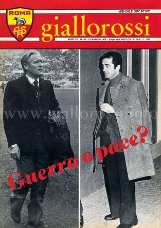 Giallorossi n. 52 - 15 maggio 1976 [Copertina]