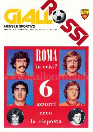 Giallorossi n. 58 - Gennaio 1977 [Copertina]