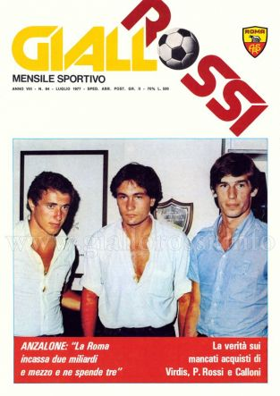 Giallorossi n. 64 – Luglio 1977 [Copertina]
