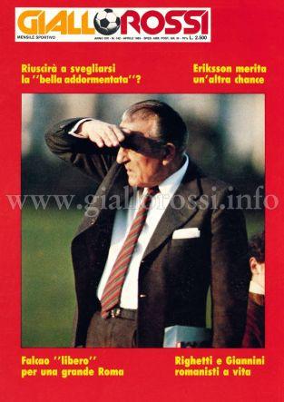 Giallorossi n. 142 – Aprile 1985 [Copertina]