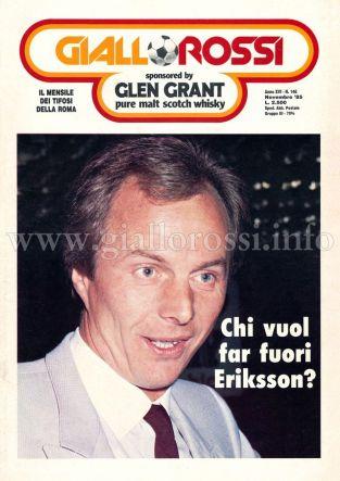 Giallorossi n. 146 – Novembre 1985 [Copertina]