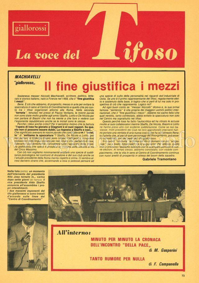 Clicca per leggere La voce del Tifoso da pag. 73 a pag. 80