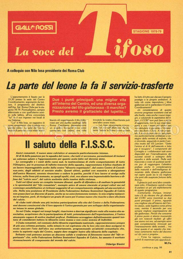 Clicca per leggere La voce del Tifoso da pag. 81 a pag. 88