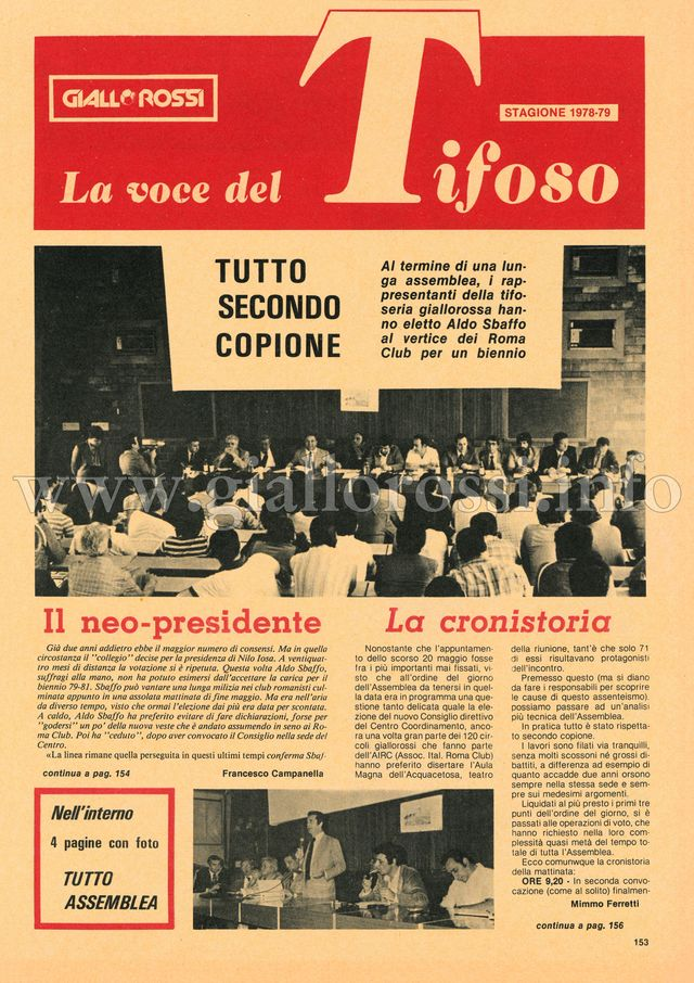 Clicca per leggere La voce del Tifoso da pag.153 a pag. 160