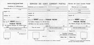 Bollettino postale per l'abbonamento (Fronte)