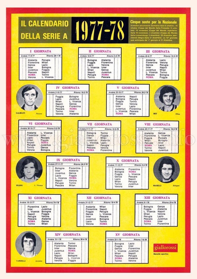 Calendario della Serie A 1977/78