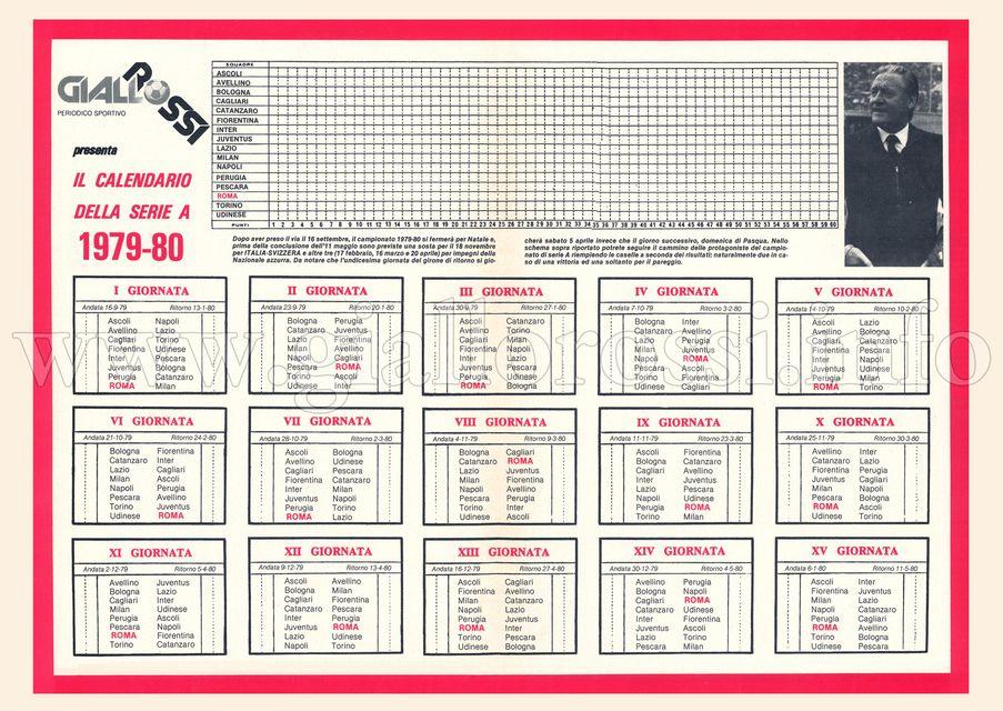 Calendario della Serie A 1979/80