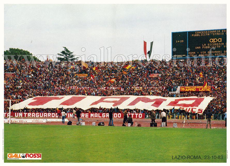 La Curva Sud al Derby del 23-10-83