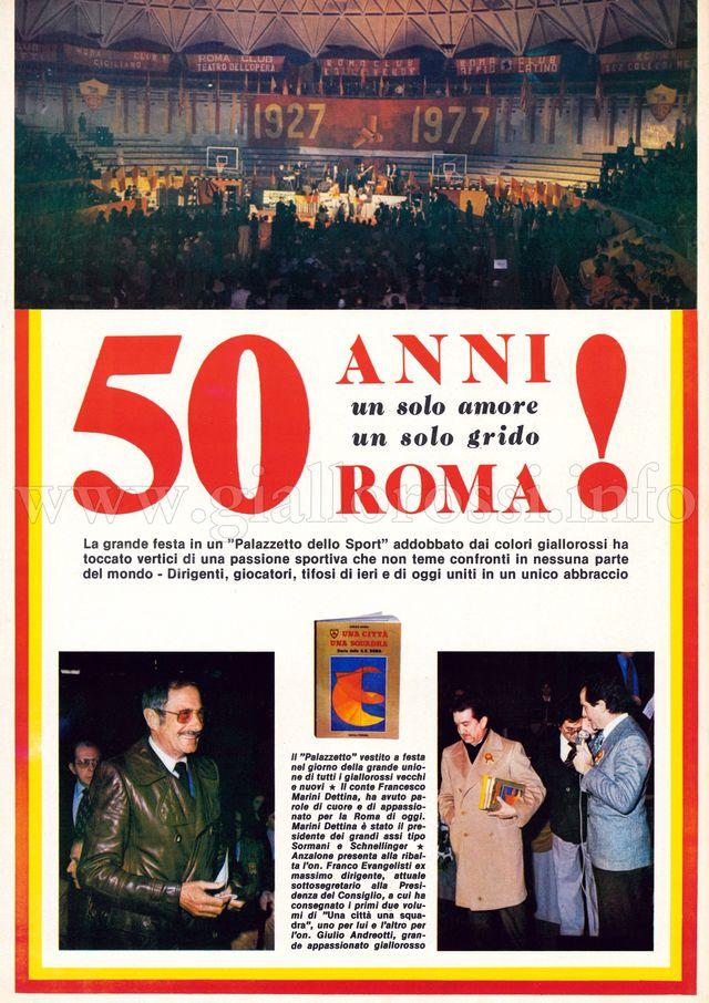 Inserto 50° anno A.S. Roma