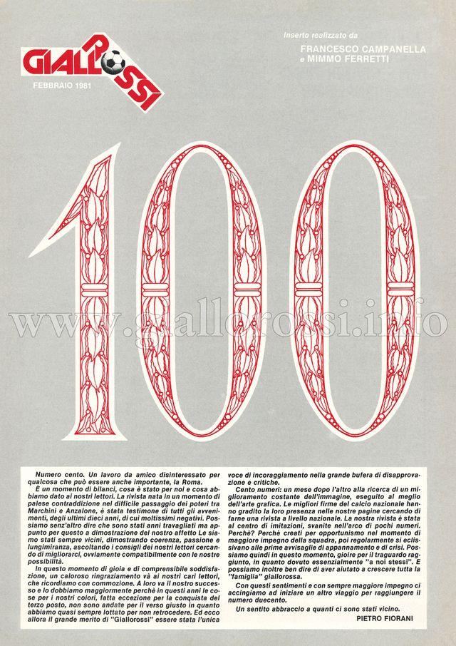 Clicca per leggere 100 – Le copertine più significative di Giallorossi