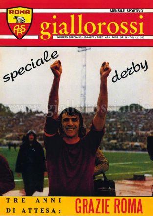 Speciale Derby 28 marzo 1975 [Copertina]