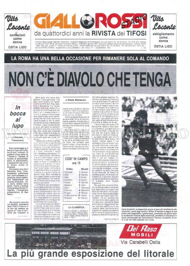 Clicca per leggere Giallorossi-Stadio n. 1 - 25 settembre 1983