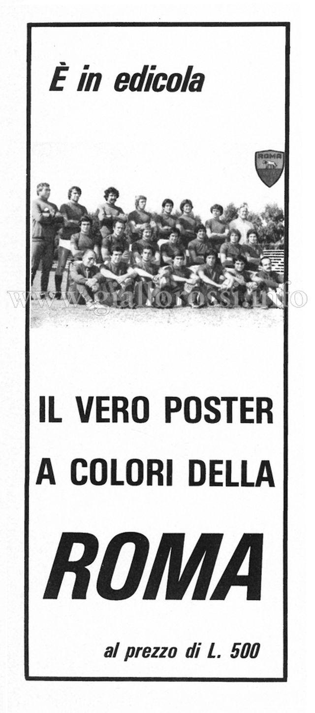 Pubblicità al vero poster a colori della Roma